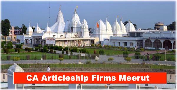 CA Articleship Firms Meerut