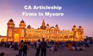 CA Articleship Firms Mysore