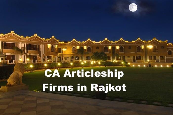 CA Articleship Firms Rajkot