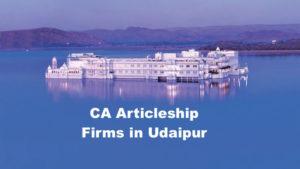 CA Articleship Firms Udaipur