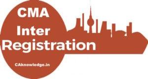 CMA Inter Registration