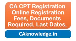 CA CPT Registration