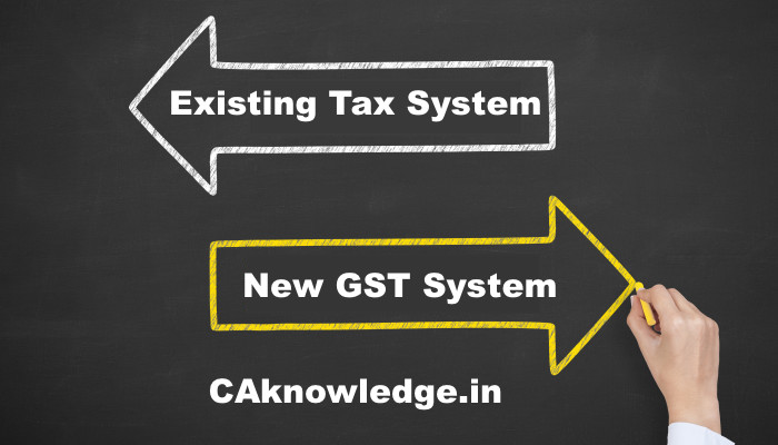 Existing Tax System Conversed in new GST System