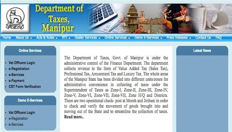 GST Registration Procedure for Existing Manipur VAT Dealers