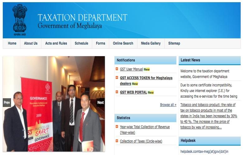 GST Registration Procedure for Existing Meghalaya VAT Dealers