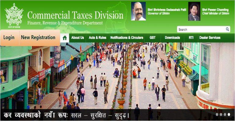 GST Registration Procedure for Existing Sikkim VAT Dealers
