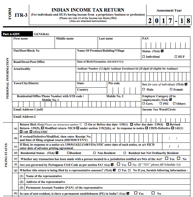income tax return form Both processes are easy for filing income tax returns,  in addition to the basic return preparation & filing plan  upload your form-16 and leave rest on us.