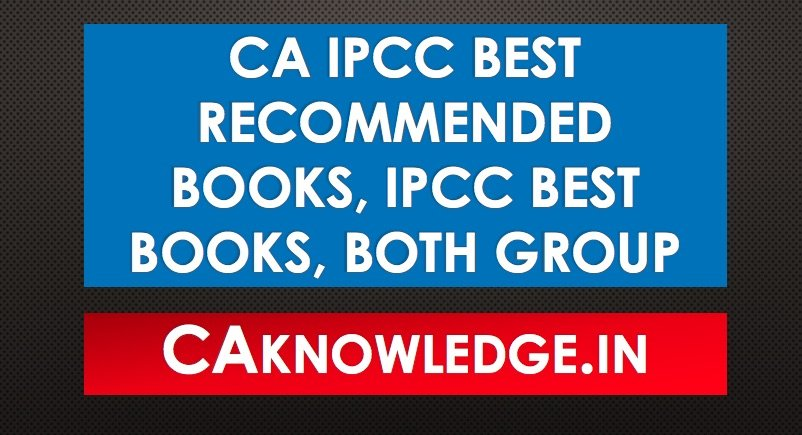 CA IPCC Best Recommended Books