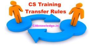 CS Training Transfer Rules