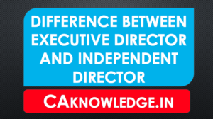 Difference Between Executive Director and Independent Director