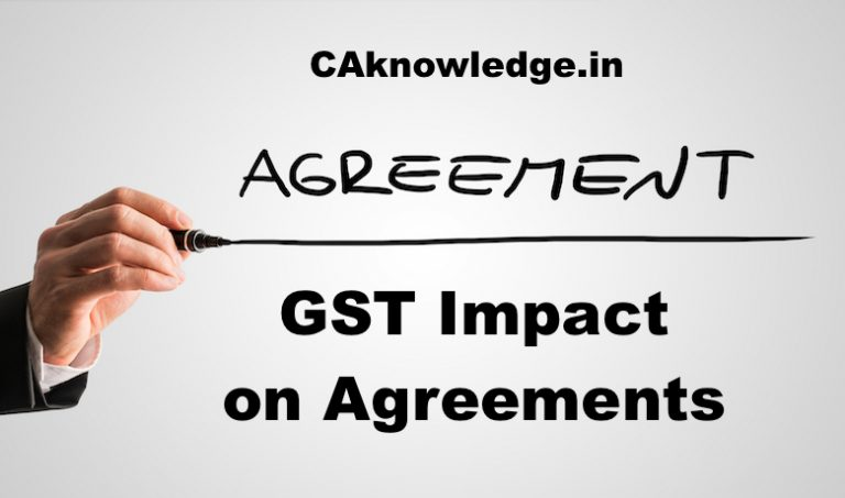 GST Impact on Agreements