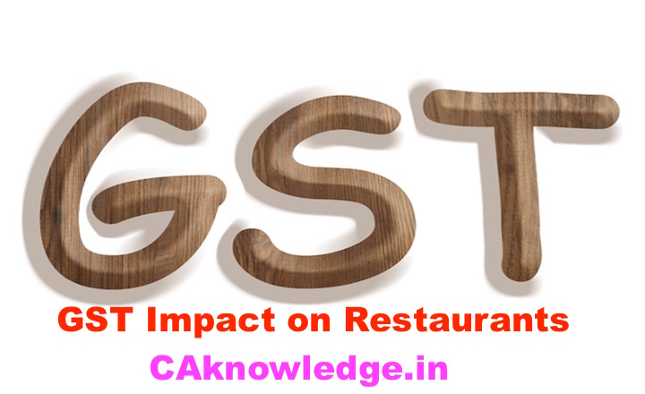 GST Impact on Restaurants, Impact of GST on Restaurants services