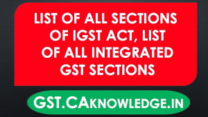 List of all sections of IGST Act