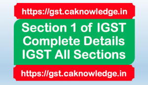 Section 1 of IGST