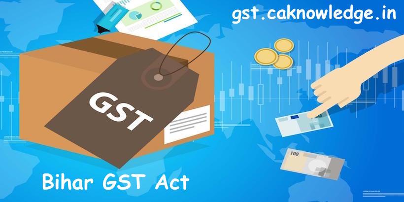 Bihar GST Act 2017