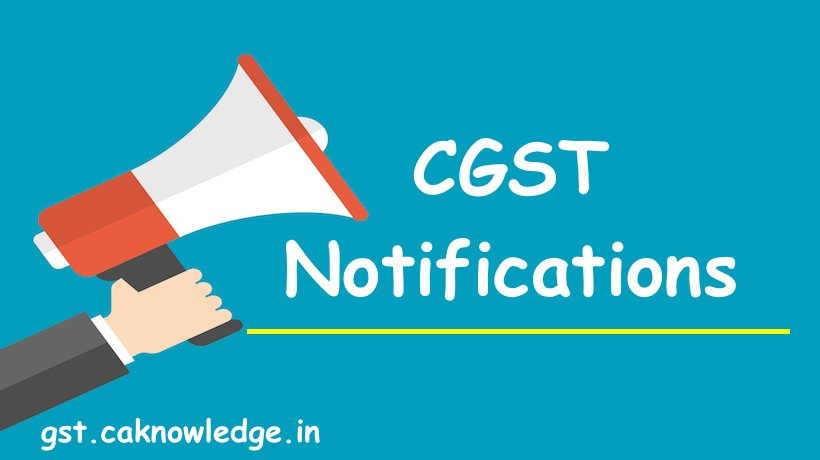 CGST Notifications