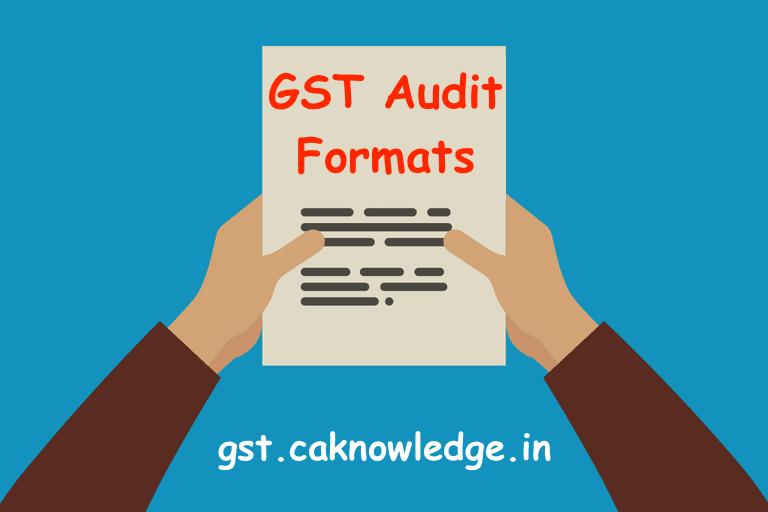 GST Audit Formats