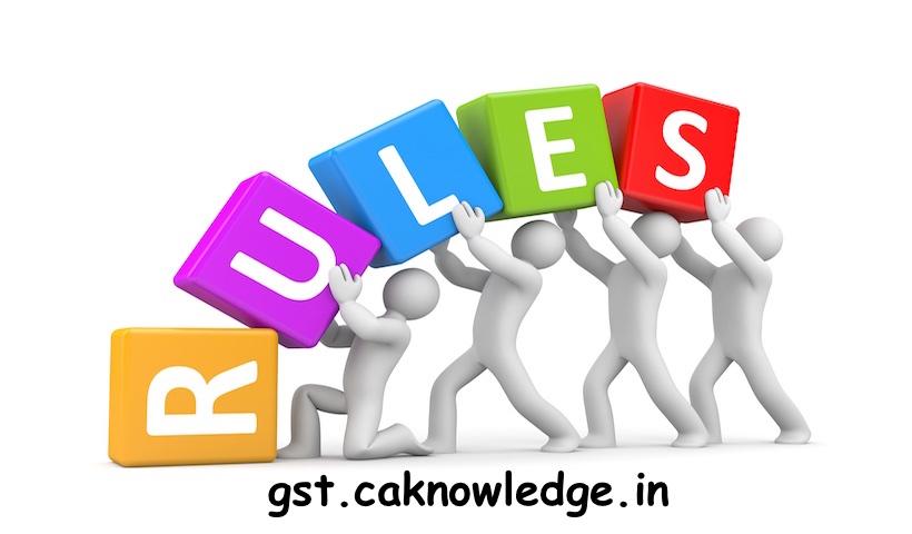 GST Refund Rules