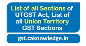 List of all sections of UTGST
