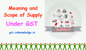 Meaning and Scope of Supply