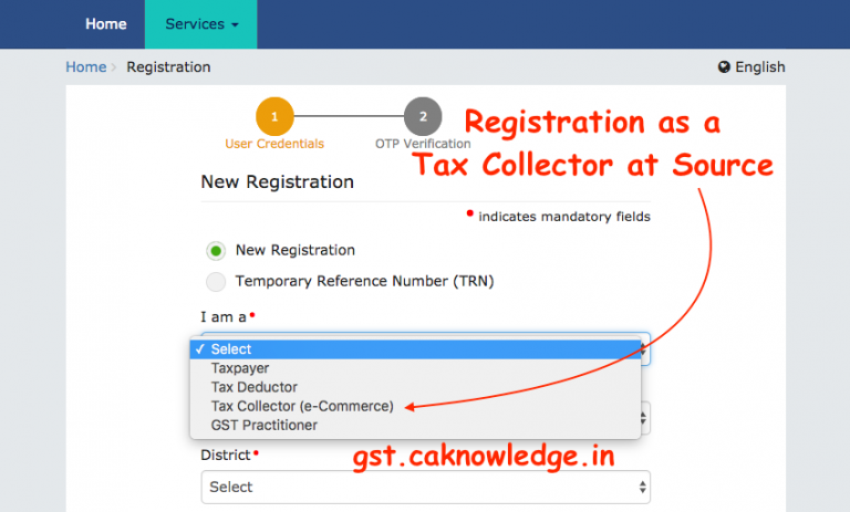Registration as a Tax Collector at Source