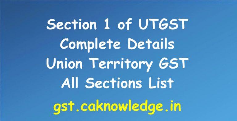 Section 1 of UTGST