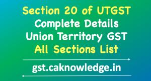 Section 20 of UTGST