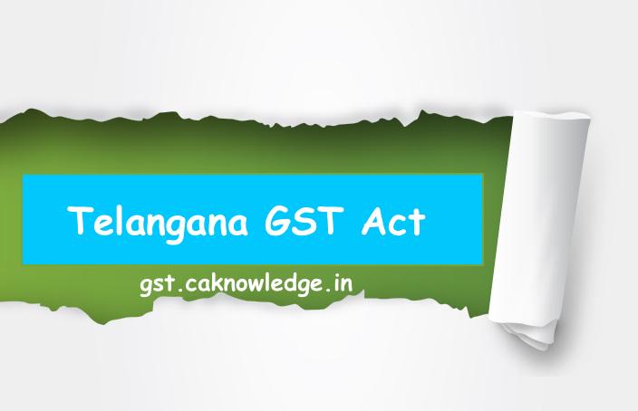 Telangana GST Act