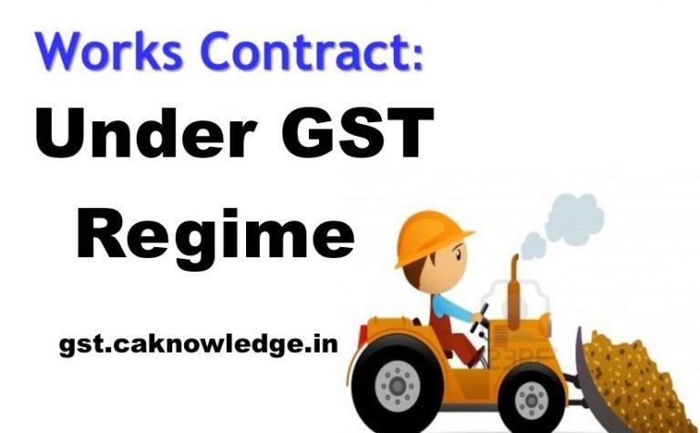 Work Contract under GST