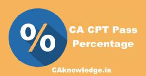 CA CPT Pass Percentage