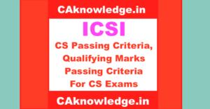 CS Passing Criteria