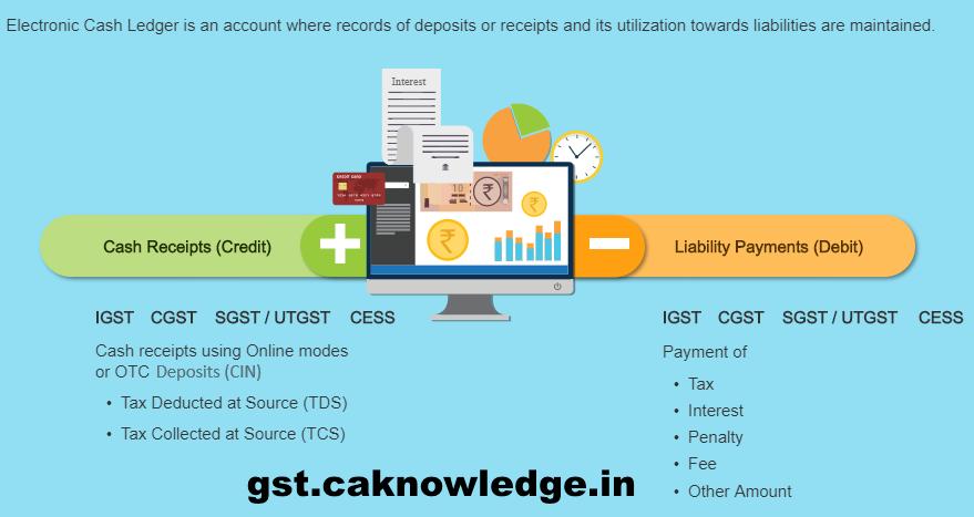 Electronic cash ledger at GST Portal