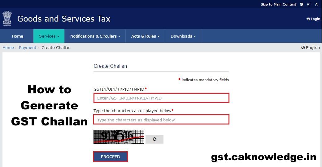 GST Challan