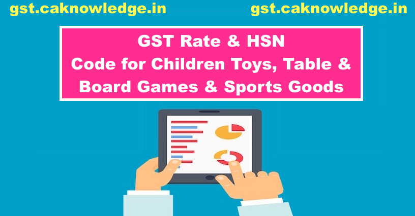 GST Rate & HSN Code for Children Toys, Table