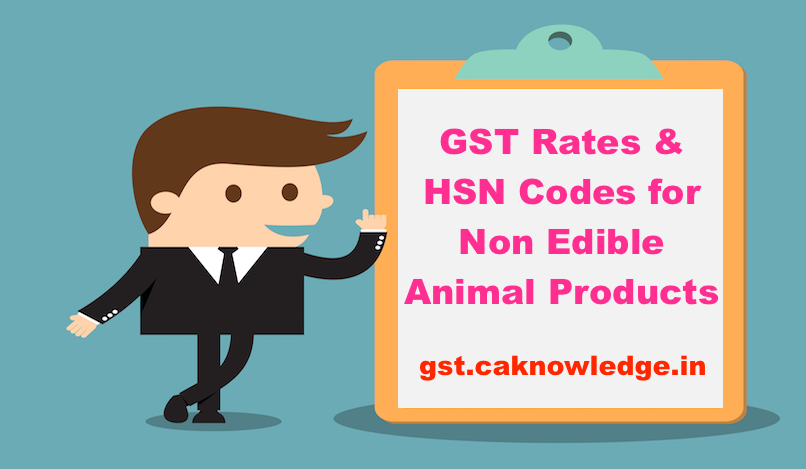 GST Rates & HSN Codes for Non Edible Animal Products