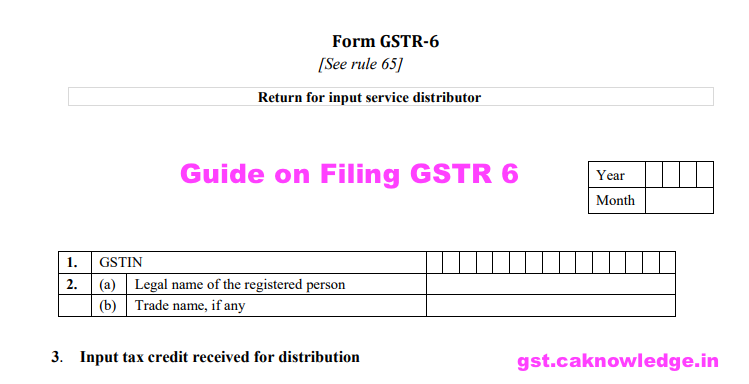 Guide on Filing GSTR 6