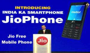 Jio Free Mobile Phone