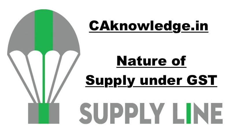 Nature of Supply under GST