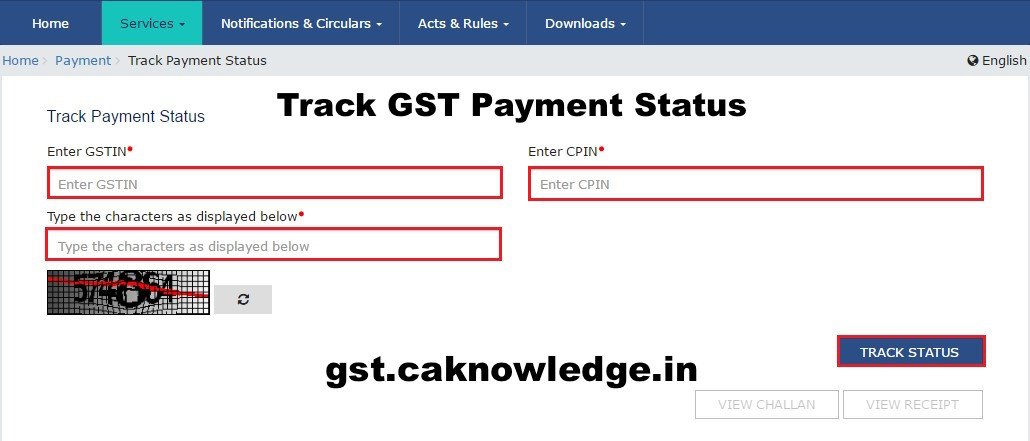 Track GST Payment Status