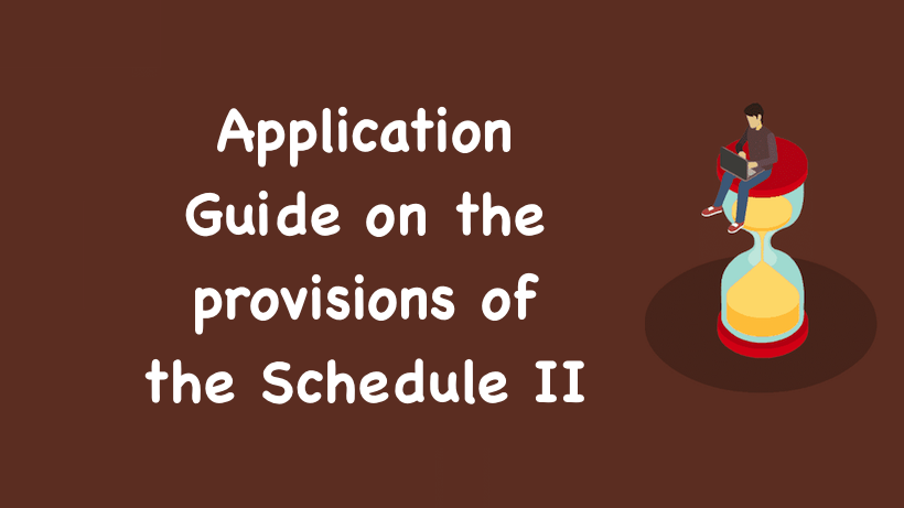 Application Guide on the provisions of the Schedule II