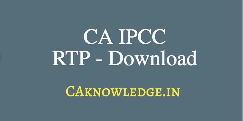 CA IPCC RTP
