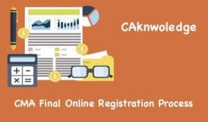 CMA Final Registration Process