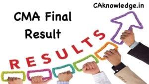 CMA Final Result