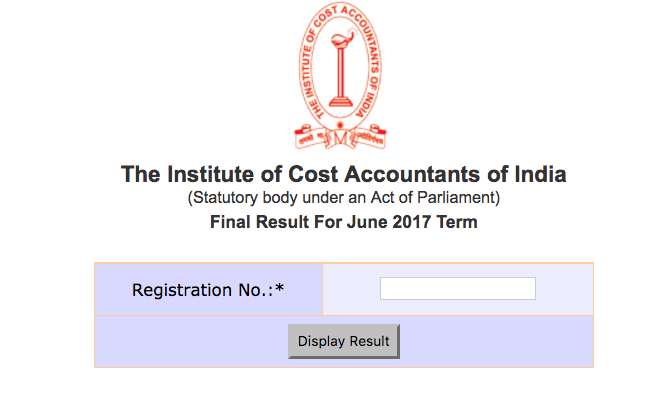 Result for June 2017 Term of examination is now available at the following servers:  Click here to check CMA Final Inter June 2017