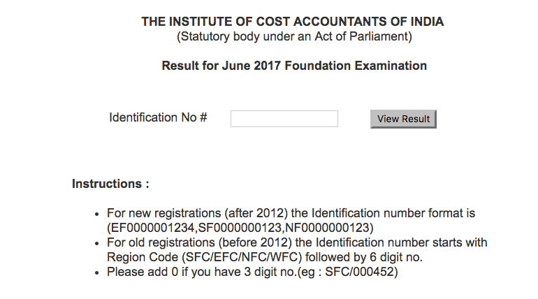CMA Foundation Result