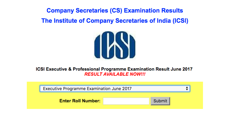 CS Executive Result June 2017