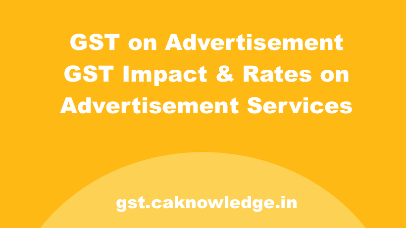 GST on Advertisement New
