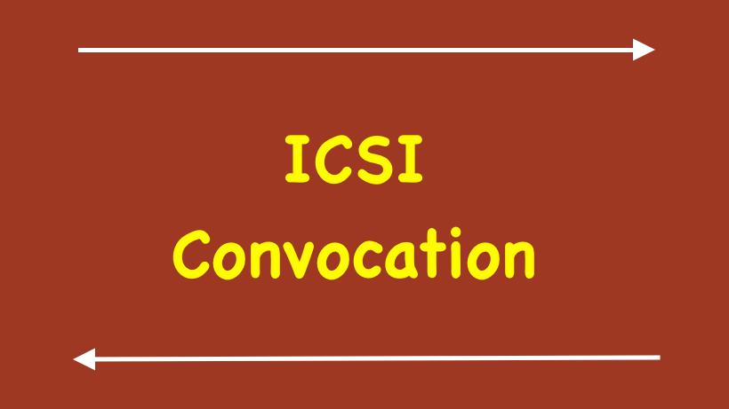 ICSI Convocation