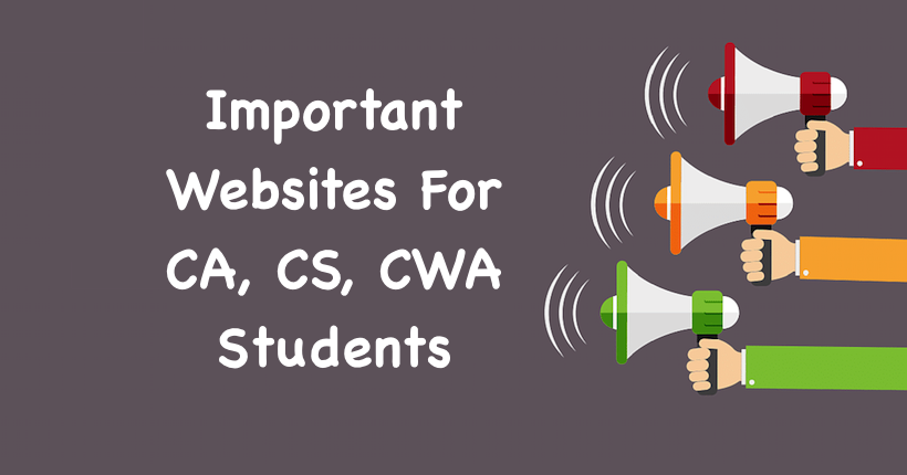 Important Websites For CA, CS, CWA Students