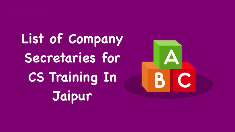 Company Secretary in Jaipur